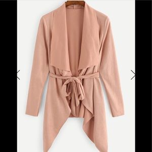Jackets & Blazers - Vegan suede top in blush pink